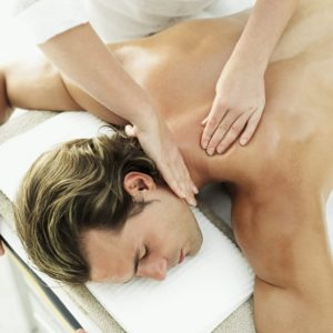 Young Man Getting a Massage